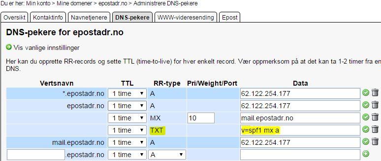 DNS mx spf